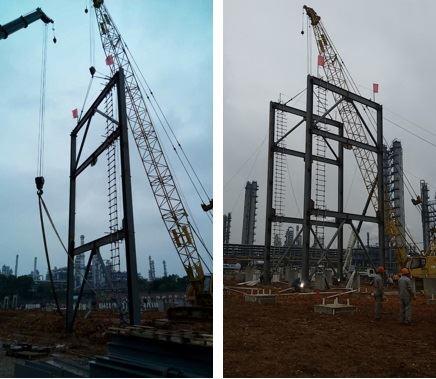 安庆rlg项目完成钢结构第一吊